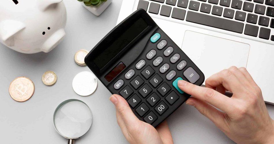 Person using a calculator